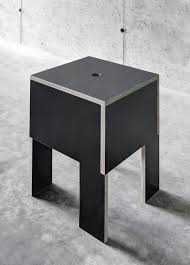 Plywood Design Contemporary Stool Plywood Resin Black J M B By Ccrz