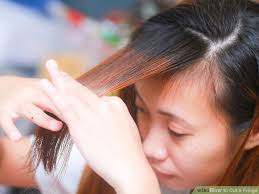 cutting hair so it curves under how to cut a fringe 8 steps with pictures wikihow