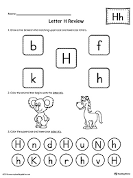 trace letter h and connect pictures worksheet myteachingstation com
