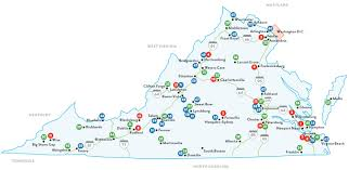 virginia map colleges and universities in virginia