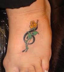 treble clef and rose tattoo foot tattoo design tattoomagz