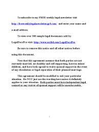 sample premarital prenuptial agreement for california marriage