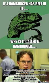 Hamburger Memes - rmx why is it called a hamburger by daruthin meme center