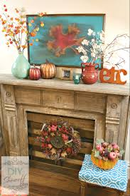 autumn warmth red and turquoise fall manteldiy show off u2013 diy