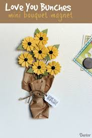 diy bouquet diy magnet with paper flower bouquet darice