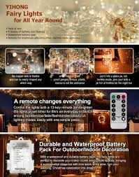 Unique Image Of Outdoor Timers by Amazon Com Yihong 2 Set Fairy Lights 8 Modes String Lights