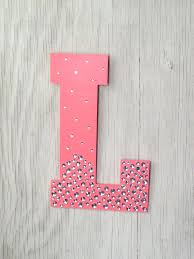 Decorative Wall Letters Nursery Decorative Wall Letters Sparkle Coral Semi Bling Decorative Wall
