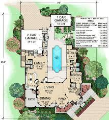 mediterranean house plans with courtyard plan 36143tx mediterranean with central courtyard house