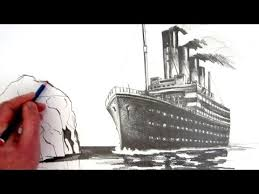 how to draw the titanic pencil drawing youtube