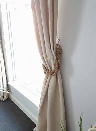 Rope Curtain Tie Back Thick Twist 3 Manila Rope Curtain Tiebacks Industrial Boho