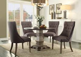 round dining sets homelegance anna claire round dining set s2 driftwood zinc d5428