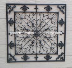 home decorative fleur de lis wrought iron panel metal wall