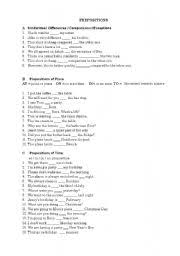 prepositions worksheets with answers nvsi