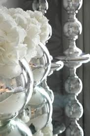 Goldfish Bowl Vase Silver Goldfish Bowl Vase With White Hydrangea Decor Ideas