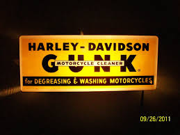 harley davidson lighted signs 1950 s harley davidson lighted gunk dealer sign collectors weekly