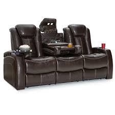 Theater Reclining Sofa Seatcraft Republic Leather Home Theater Seating Power Recline Sofa