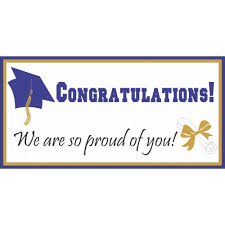 congratulations graduation banner congratulations we are so proud of you world s best banners