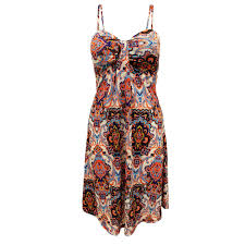 Womens Holidays by New Womens Ladies Paisley Print Strappy Holidays Wear Summer Beach