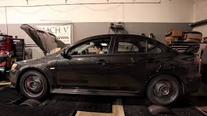 stock 2011 mitsubishi lancer evo x dyno run youtube