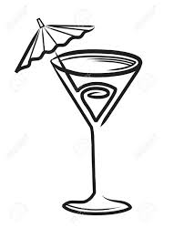 james bond martini glass drawn cocktail cocktail glass pencil and in color drawn cocktail