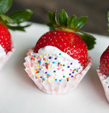 Snowberries White Chocolate Dipped Strawberries Champagne Soaked Frosting Covered Strawberries Recipe
