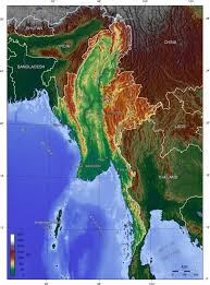 United States Elevation Map by Geography Of Myanmar Wikipedia