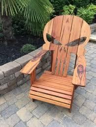 Wooden Skull Chair Punisher Adirondack Chair Badass Lounging Adirondack Skull