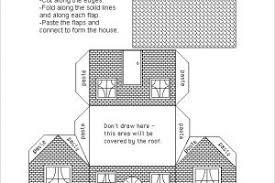 printable model house template printable paper house template download templatezet