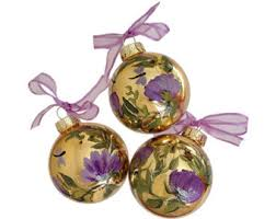 purple glass ornaments rainforest islands ferry