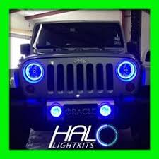 jeep wrangler blue headlights oracle jeep wrangler led halos with oracle road mirrors