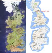 us map of thrones of thrones westeros is really just britain an inverted