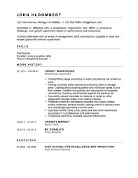 Warehouse Job Resume Skills by 12 Free High Student Resume Examples For Teens