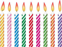birthday candle vector colorful birthday candles stock vector colourbox