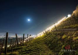 pyramid hill christmas lights pyramid hill vineyards above the city of maribor slovenia lit up