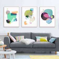 compare prices on geometric wall art online shopping buy low modern abstract geometric shape poster a4 nordic triptych wall art print picture living room home decor