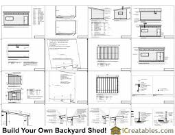 12x20 modern studio shed plans end door