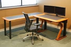 computer desk for dual monitors computer desk for two monitors 9940 with regard to stylish