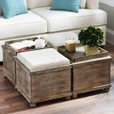 sofa square ottoman coffee table ottoman seat black leather