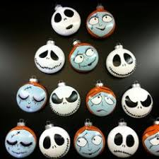 12 skellington faces inspired ornaments nightmare before