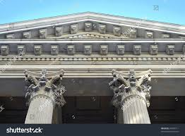 neoclassical architecture columns city hall new stock photo