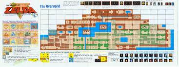 legend of zelda map with cheats it s a secret to everybody zelda map original zelda and gaming