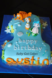 bubble guppies number one cake covered in fondant with fondant