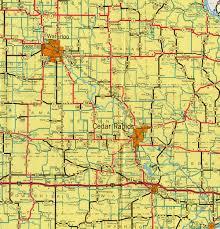 Map Of Cedar Falls Iowa Interstate Guide Interstate 380 Iowa