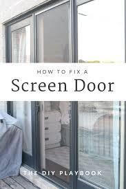 How To Fix Glass The Easy Way To Repair A Broken Sliding Screen Door