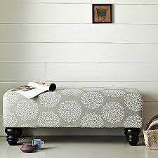 Fabric Bench For Bedroom Decorating With Patterned Upholstered Furniture