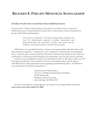 scholarship recommendation letter best business template