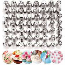 flower decorating tips 56pcs set tulip flower icing piping nozzles russian nozzles cake