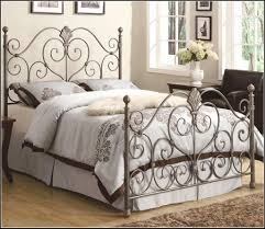 bedding iron canopy bed frame in white bedroom made of wrought
