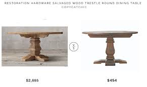 restoration hardware marble table daily find restoration hardware salvaged wood trestle round dining