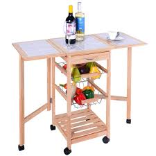 Drop Leaf Kitchen Cart by 3 Tier Rolling Kitchen Trolley Cart Kitchen U0026 Dining Carts